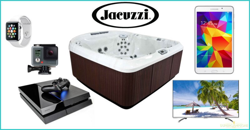 Vinci gratis PlayStation, TV 4k, GoPro, Jacuzzi e altro