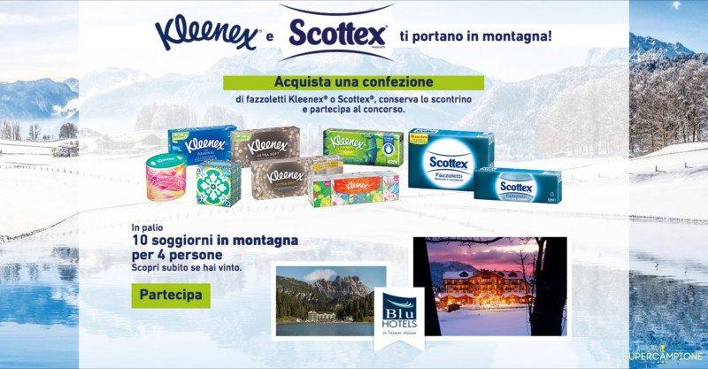 Vinci weekend in montagna con Kleenex e Scottex