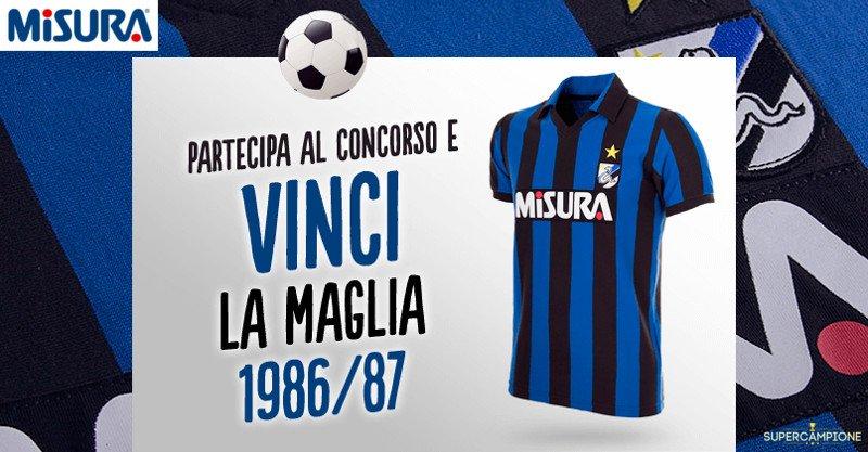 Vinci gratis la maglia dell'Inter del 1986 con Misura