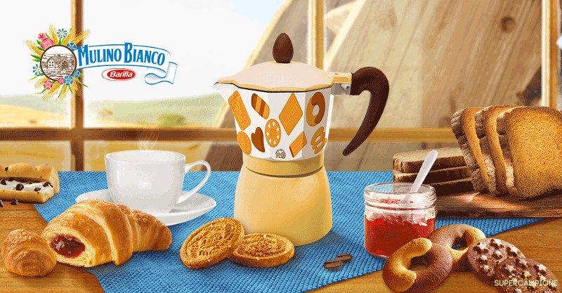 Supercampione - Moka caffè in omaggio con Mulino Bianco