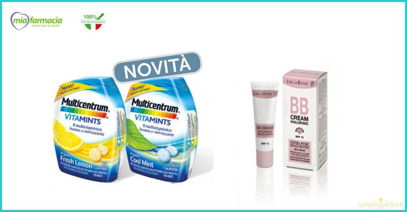 Campioni omaggio Incarose BB Cream e Multicentrum Vitamints