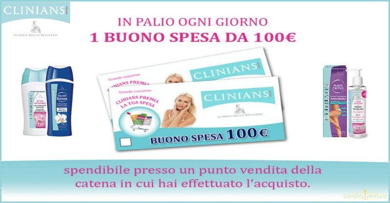 Supercampione - Vinci buoni spesa da 100€ con Clinians