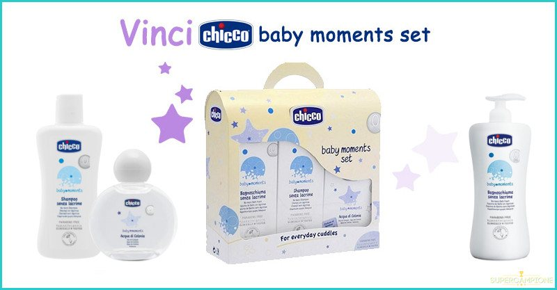 Vinci gratis un set Chicco Baby Moments