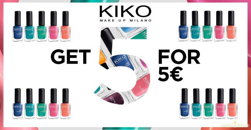 Supercampione - Offerta Kiko: 5 smalti a 5€