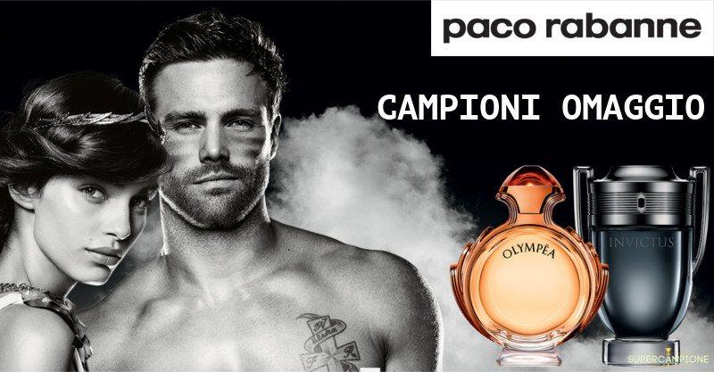 Campioni omaggio Paco Rabanne Intense Olympéa e Invictus