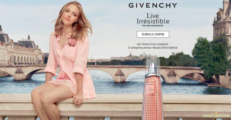 Supercampione - Campioni omaggio profumo Givenchy Live Irrésistible