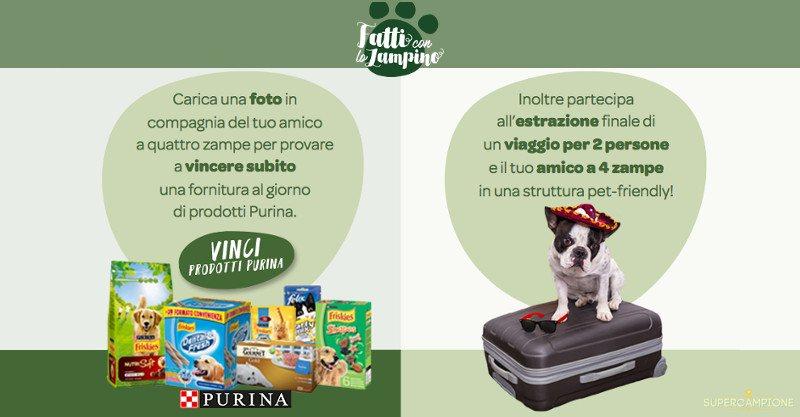 Supercampione - Purina: vinci gratis fornitura di prodotti