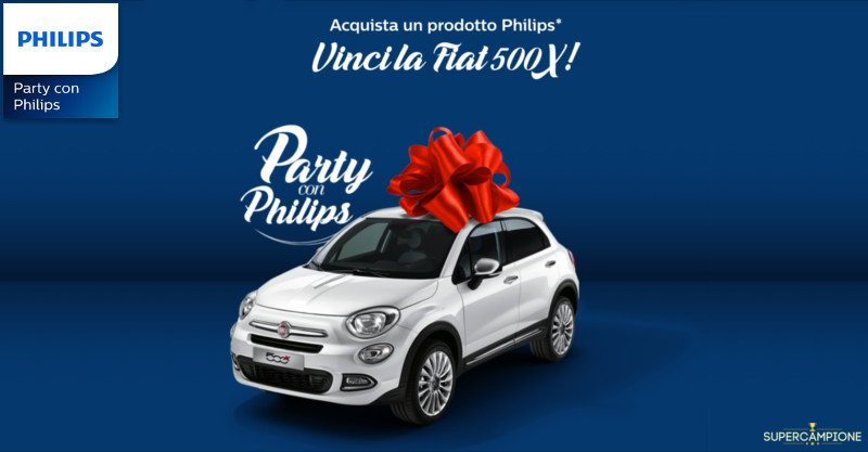Concorso Philips: vinci una Fiat 500X
