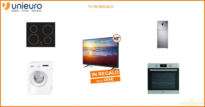 Unieuro ti regala una TV Hitachi 43 Full HD