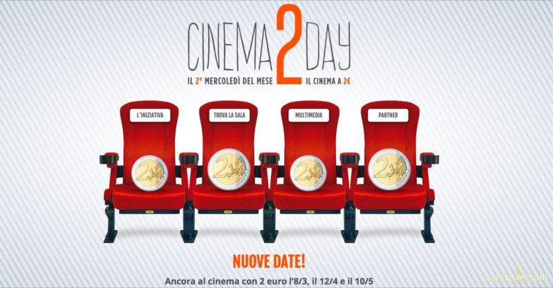 Cinema 2Day: biglietti a 2€ prorogata fino a maggio