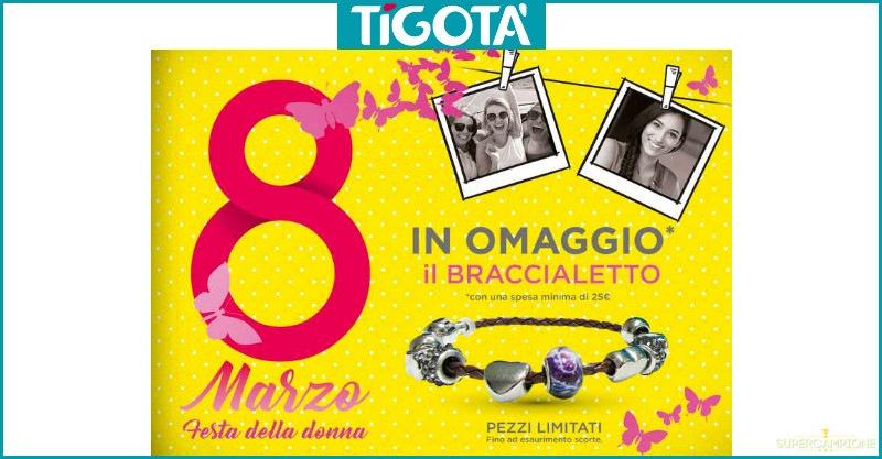 Festa della donna: braccialetto omaggio da Tigotà