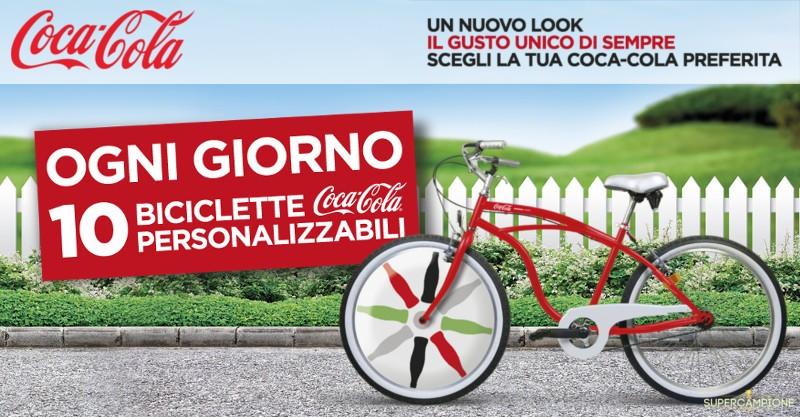 Supercampione - Coca Cola: vinci 10 biciclette al giorno