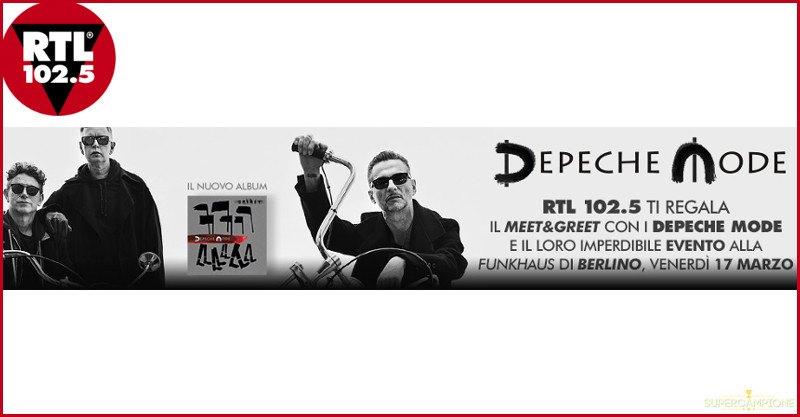 Vinci gratis concerto dei Depeche Mode e viaggio a Berlino