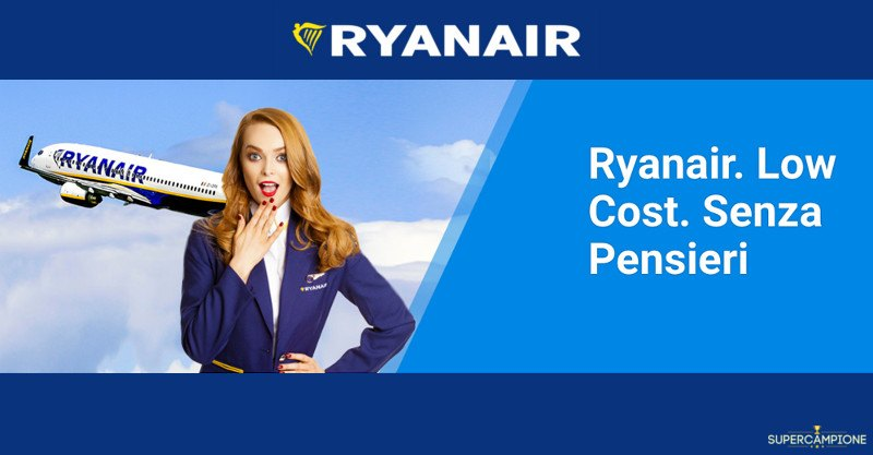 Offerta Ryanair: biglietti da 9,99€