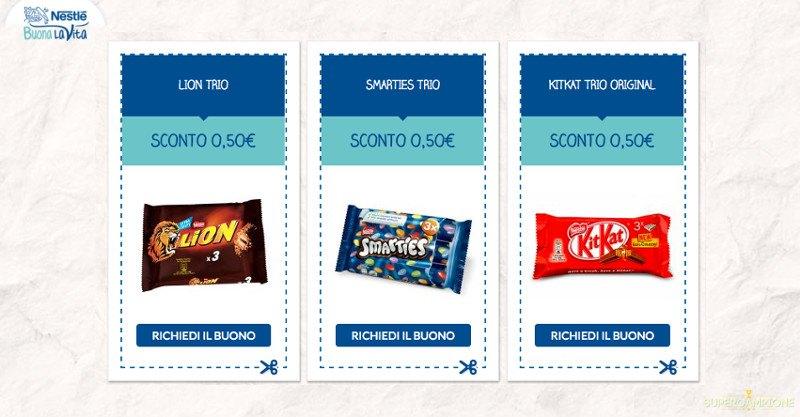 Supercampione - Buoni sconto Lion, Smarties, KitKat