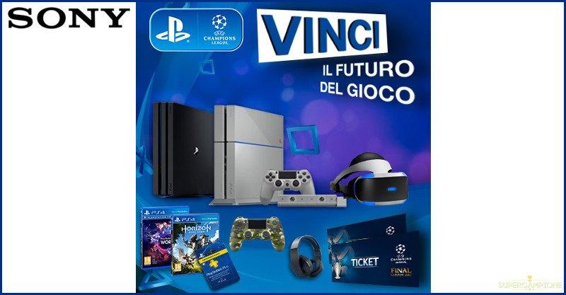 PlayStation: vinci gratis console, controller, visori e biglietti Champions League