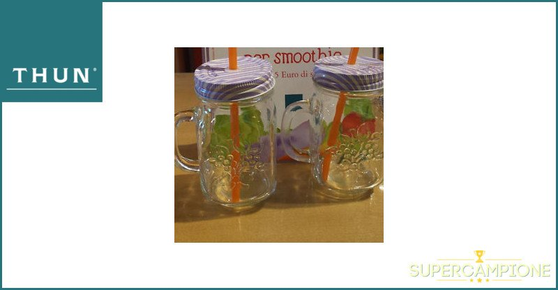 Supercampione - Thun: ricevi in regalo un set di bicchieri per smoothie