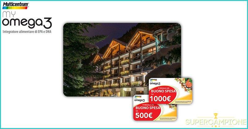 Vinci gratis buoni sconto fino a 1000€ o soggiorno con SPA