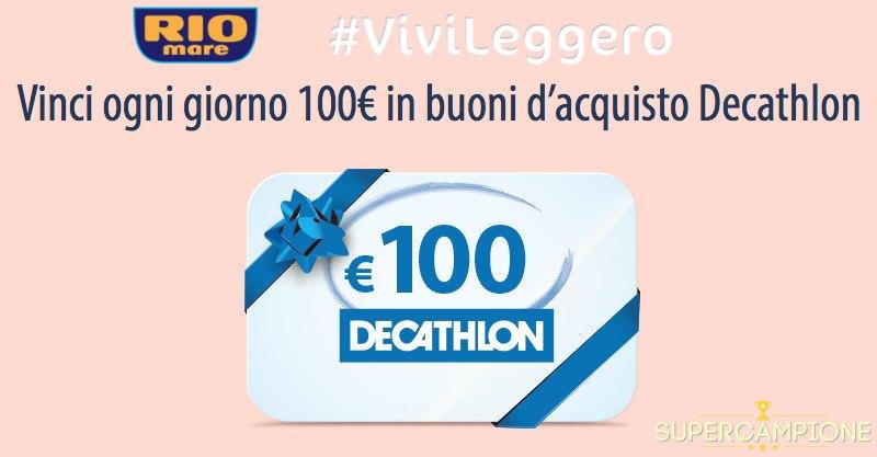 Rio Mare: vinci buoni Decathlon da 100€