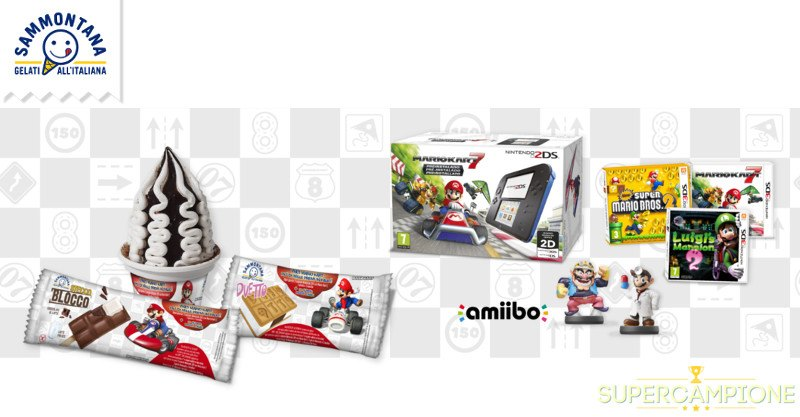 Supercampione - Sammontana: vinci 1000 premi Nintendo e Mario Kart