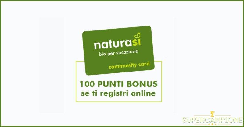 NaturaSì: entra nella community online e ricevi 100 punti omaggio