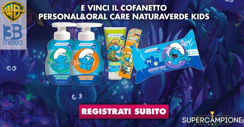 Vinci gratis kit Naturaverde Kids de I Puffi
