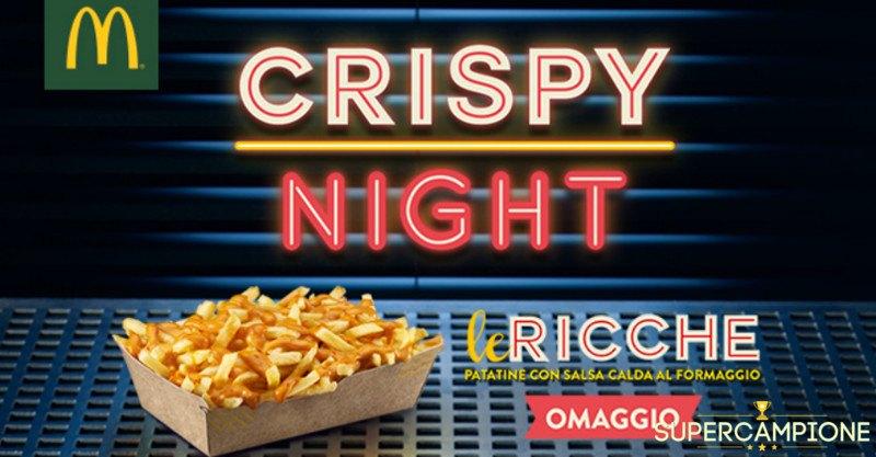 McDonald's Crispy Night: ricevi gratis patatine Le Ricche