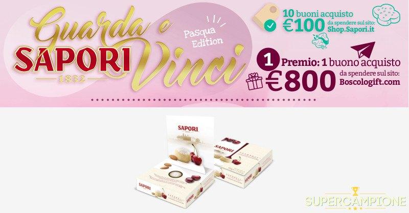 Supercampione - Vinci gratis buoni da 100€ Sapori e 800€ su Boscolo