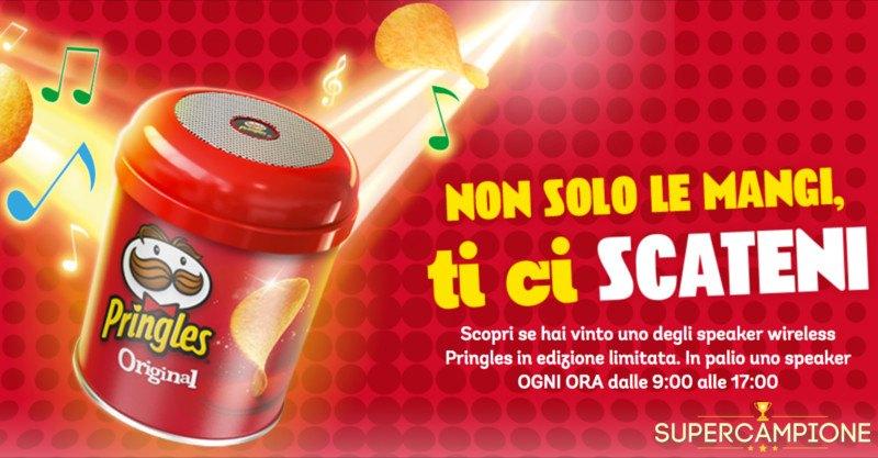 Supercampione - Pringles: vinci uno speaker wireless ogni ora
