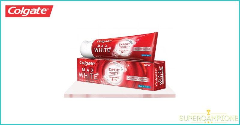 Campioni omaggio dentifricio Colgate Max White Expert White