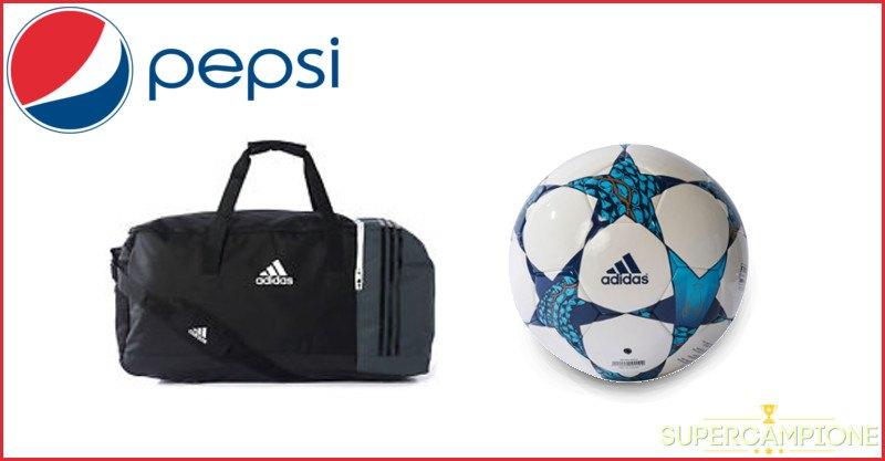 Supercampione - Pepsi: vinci un pallone o un borsone Adidas