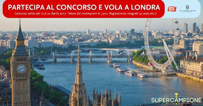 Vinci gratis un viaggio a Londra con RDS