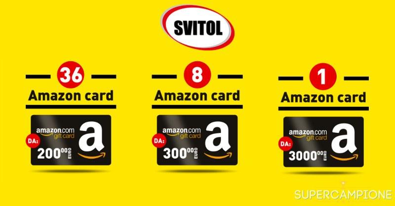 Svitol: vinci gratis buoni Amazon da 200, 300 e 3.000€