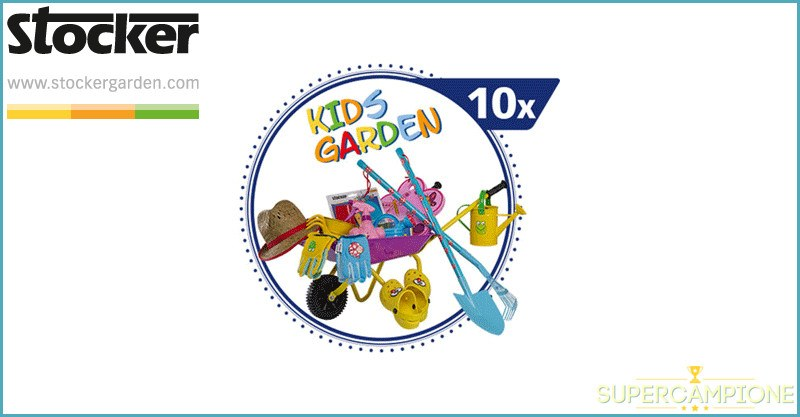 Supercampione - Vinci gratis set di attrezzi da giardinaggio Stocker
