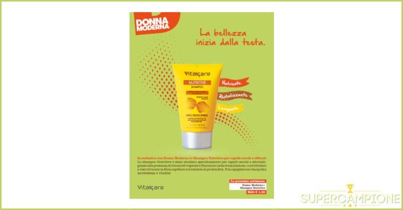 Campioni omaggio shampoo Vitalcare con Donna Moderna