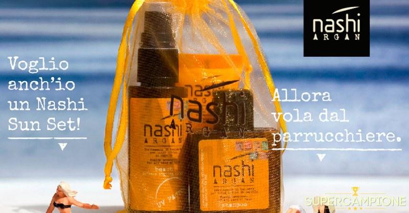 Ricevi omaggio 3 prodotti Nashi Argan