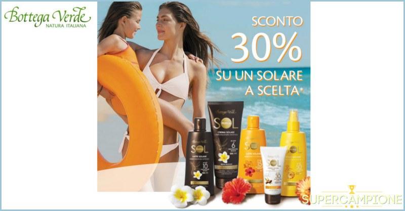 Supercampione - Buoni sconto 30% sui solari Bottega Verde