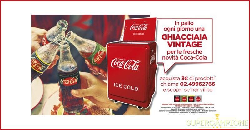 Supercampione - Coca Cola: vinci una ghiacciaia vintage al giorno