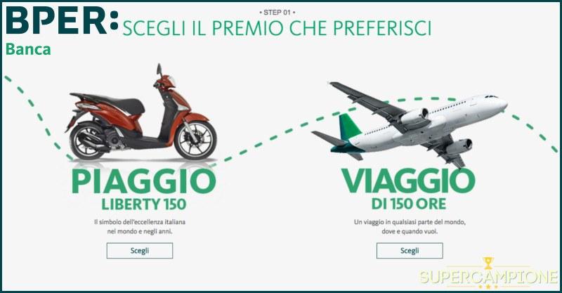Vinci gratis scooter Piaggio Liberty 150 o viaggio