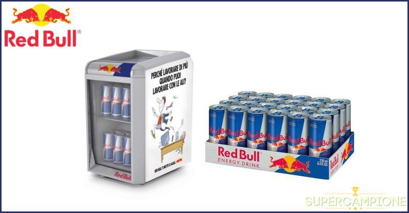 Red Bull: vinci mini frigo e fornitura