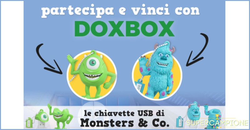 Vinci gratis chiavetta USB Monsters & Co.
