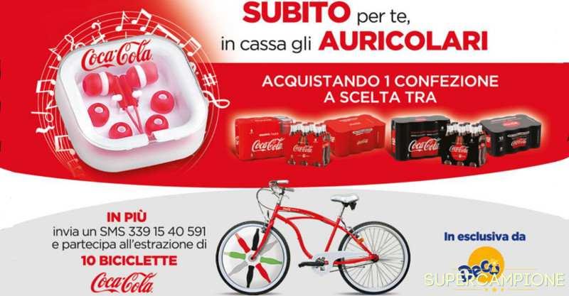 Coca Cola: omaggio auricolari e vinci bicicletta