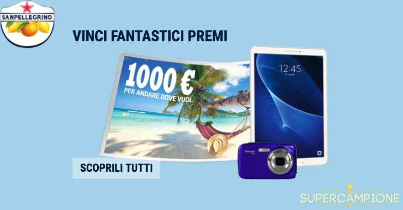 San Pellegrino: vinci viaggio, Polaroid e altri premi