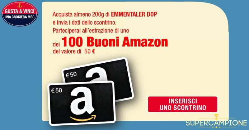 Emmentaler: vinci buoni Amazon e crociere MSC