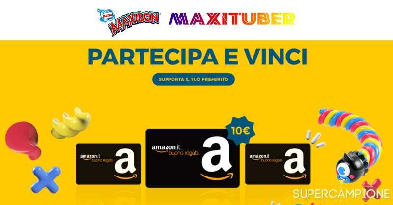 Vinci gratis 10 buoni Amazon al giorno con Maxibon