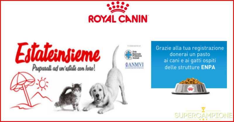 Vinci gratis un kit vacanza con Royal Canin
