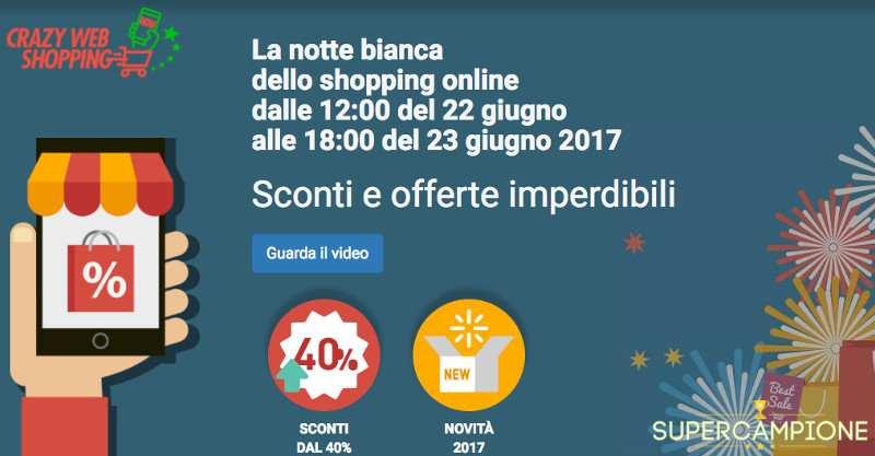 Crazy Web Shopping: 30 ore di sconti e offerte