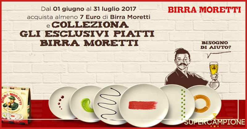 Colleziona gli esclusivi piatti Birra Moretti