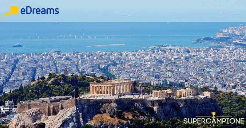 eDreams: vinci gratis un volo per Atene