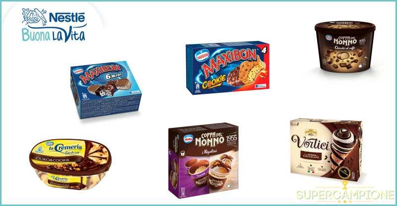 Buoni sconto gelati Nestlé